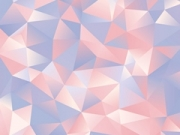 abstract light blue and pink paper triangles design background